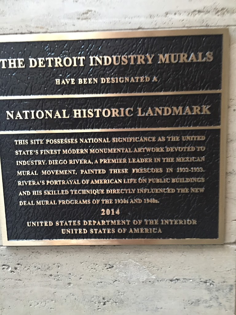 The Detroit Industry Murals has been designated a National Historic Landmark This site possesses national significance as the United State's finest modern monumental artwork devoted to industry.  ...