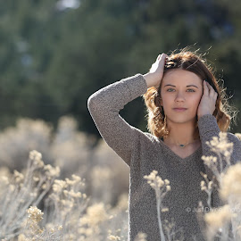 High Desert Winter by Jessica Elizabeth - People Portraits of Women ( arizona, just divine photography, portrait )