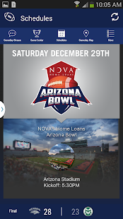 NOVA Arizona Bowl Gameday App - screenshot