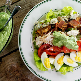 Rotisserie Chicken Cobb Salad with Avocado Ranch Dressing