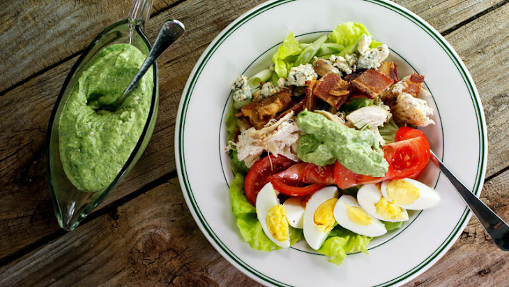 Rotisserie Chicken Cobb Salad with Avocado Ranch Dressing Recipe ...