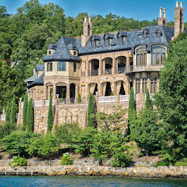 Lake Lure Home by Joe Saladino - Buildings & Architecture Homes ( home, water', castle, lake, lakefront )