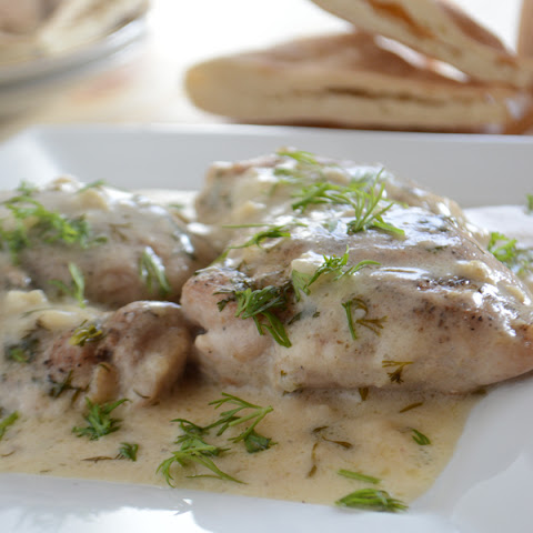 Chicken In Lime And Dill Sauce.