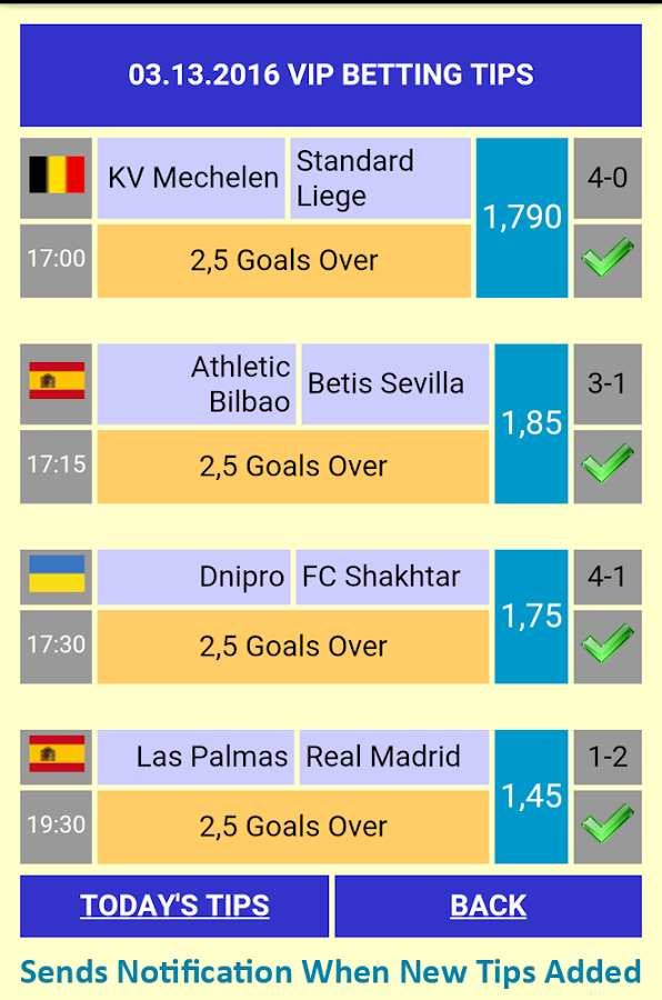 Vip Betting Tips Screenshot 2