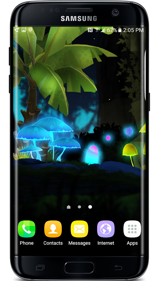 Mushroom Firefly Jungle LWP Screenshot 7