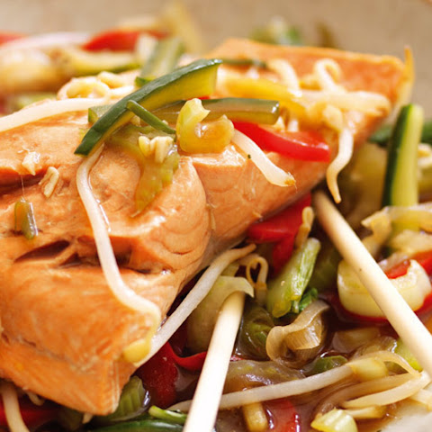 Steamed Alaska Salmon, Chinese-Style