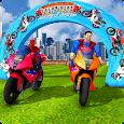 Superhero Color Bike Line Rider Highway Stunts