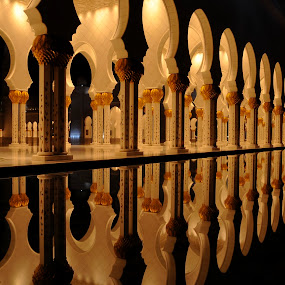 Reflection by Jbern Eugenio - Buildings & Architecture Architectural Detail ( mirror, detail, reflection, mosque, column, architecture )