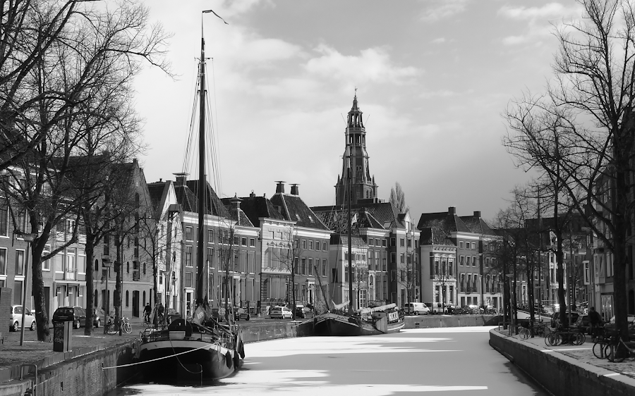 Canals off Groningen, Netherlands by Gert de Vos - Uncategorized All Uncategorized