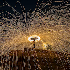 Steel Wool by Deva Vinoth - Abstract Light Painting