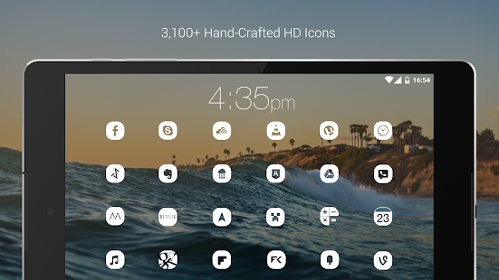 Pasty - White Icon Pack (Pro Version) Screenshot