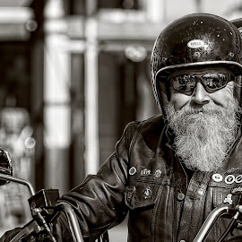 Biker by Anthony Wood - People Street & Candids