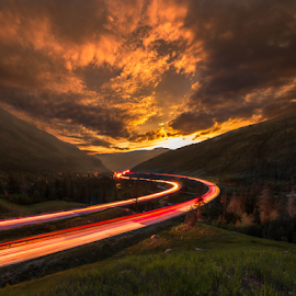Vail Pass over I 70 in Colorado by Andy Taber - Landscapes Sunsets & Sunrises (  )
