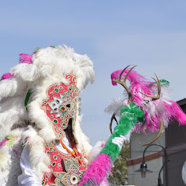 Mardi Gras by Linda Brooks - People Musicians & Entertainers