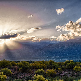 Pusche Ridge by Charlie Alolkoy - Landscapes Cloud Formations ( desert, mountain, arizona, cloud, sunrise )