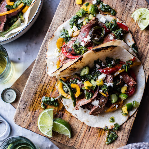 Chimichurri Steak Fajitas.