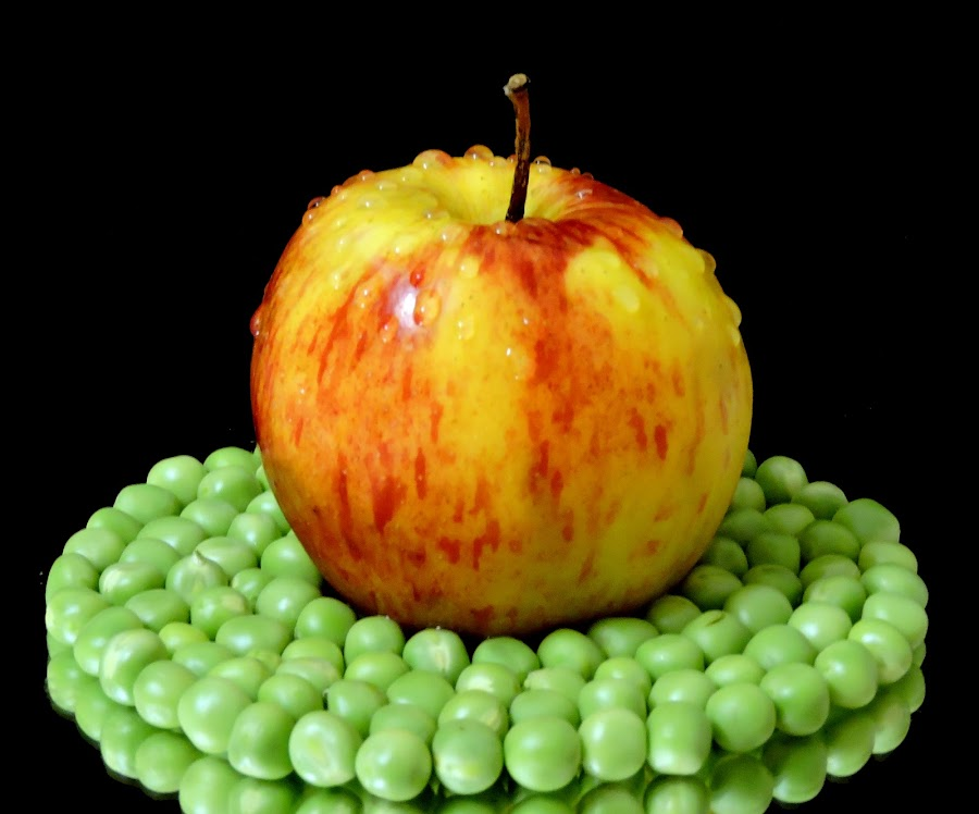 apple and pea by SANGEETA MENA  - Food & Drink Fruits & Vegetables
