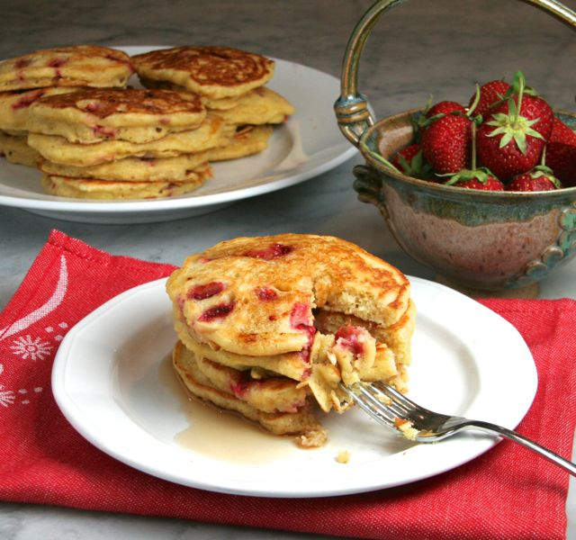 Strawberry Cornmeal Griddle Cakes Recipe | Yummly