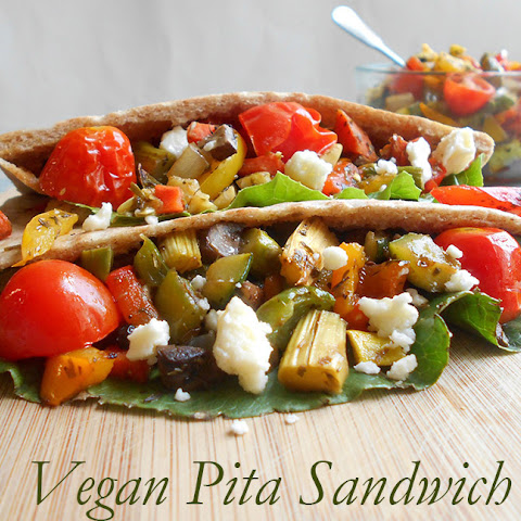 Vegan Sandwich With Fresh Veggies