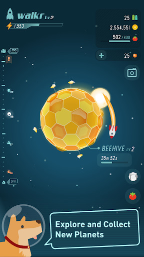 Walkr: Fitness Space Adventure - screenshot