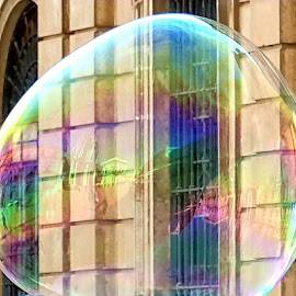 Riflessi on una bolla di sapone di Piazza Duomo a Siracusa by Patrizia Emiliani - City,  Street & Park  Historic Districts ( siracusa, riflessi, piazza duomo, bolla di sapone,  )