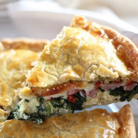 The Perfect Easter Breakfast Pie With Ham, Egg, Cheese and Spinach