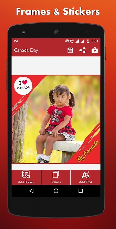 Kanada Tag Fotorahmen - DP Maker android apps download