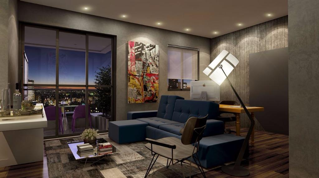 Perspectiva da Sala integrada com Dormitório