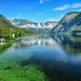 Bohinjsko jezero by Bojan Kolman - Landscapes Waterscapes (  )