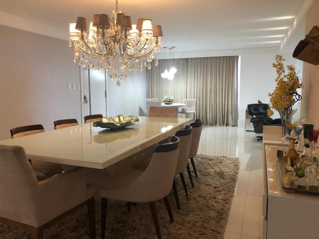 Apartamento com 4 dormitórios à venda, 212 m² por R$ 1.390.000 - Miramar - João Pessoa/PB