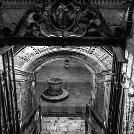 by Roberto Gonzalo Romero - Black & White Buildings & Architecture ( palencia, cripta, cathedral )