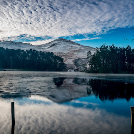 Reflections by Paul Masterton - Landscapes Waterscapes ( edinburgh scotland, water, clouds, scotland, hills, mountains, edinburgh, reflections, glencorse, pentland hills )