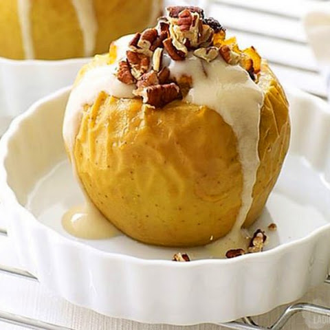 Baked Apples With Cottage Cheese Cream