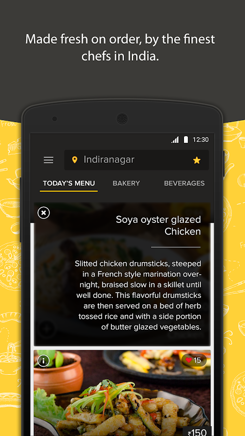 Freshmenu: Fresh Food Delivery Screenshot 2