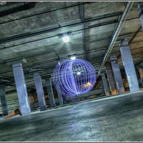 by Kev Bates - Abstract Light Painting ( abstract, night., light painting, carpark, orbs )