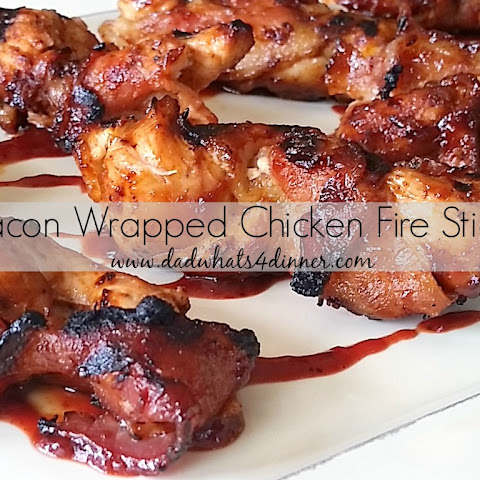 Bacon Wrapped Chicken Fire in a Cherry Habanero BBQ Sauce