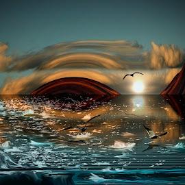 Espejo del tiempo by Alberto Nadgar R. - Digital Art Places ( ilustracion, arte digital, anadgar )