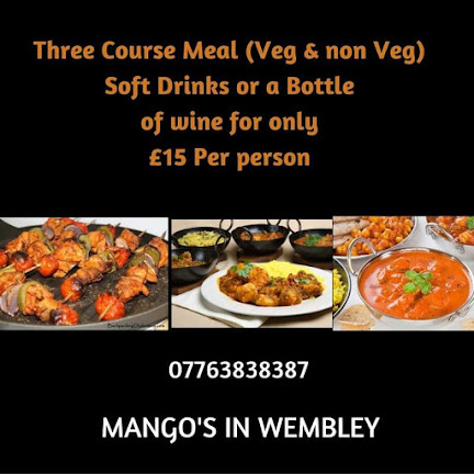three course meals at wembley