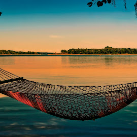 holiday by Tomasz Marciniak - Landscapes Travel ( holiday, summer, lake, hammock,  )