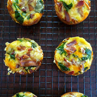Mini Spinach & Bacon Egg Cups