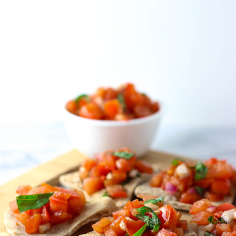 Vegan Bruschetta with Toasted Pita Bread