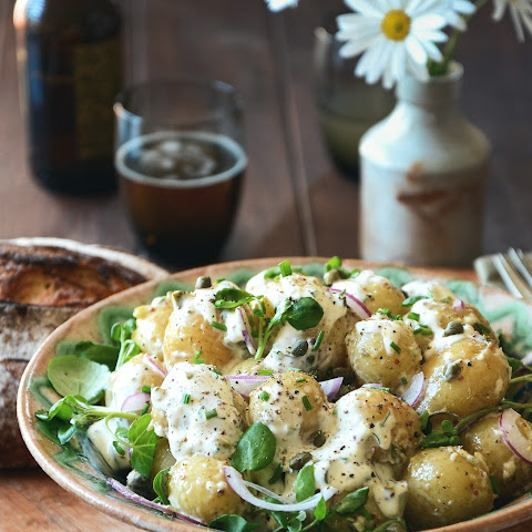 Potato Salad with Garlicky Herb Dressing