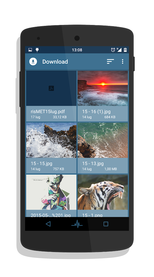 Razaer Blue - Layers Theme Screenshot 4