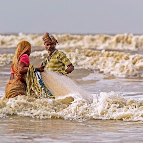 Fishing in Sea....A way to earn living... by Sutapa Karmakar - News & Events World Events