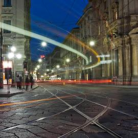 Milano by Giuseppe BeeBell - City,  Street & Park  Street Scenes ( milano )