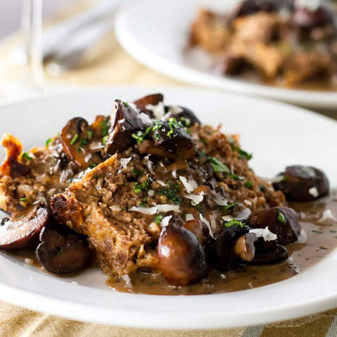 Meatloaf with Balsamic Mushroom Sauce