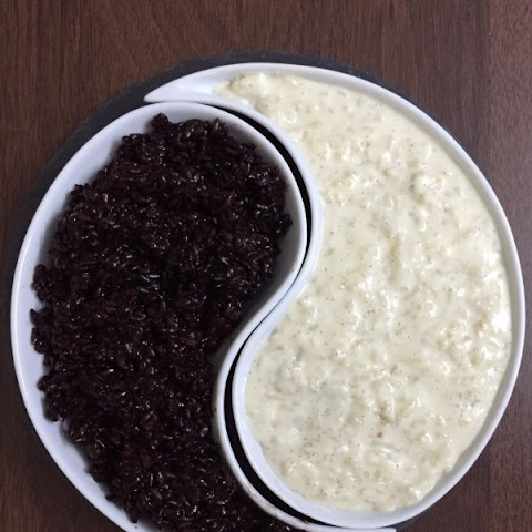 Black Sticky Rice and  Vanilla Rice pudding