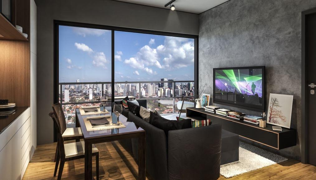 Perspectiva da Cobertura Duplex Inferior 152 m²