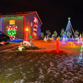 Christmas by Joseph Law - Public Holidays Christmas ( farm, winter, leduc, alberta, decoration, snow, christmas, house )