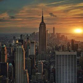 New York City #2 by Jody Grenier - City,  Street & Park  Skylines